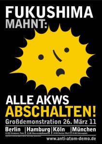 Plakat zum DEMO Aufruf 26. März 2011